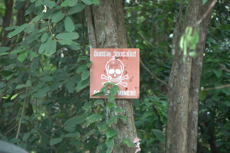 Auf thailändischer Seite liegen noch immer Minen