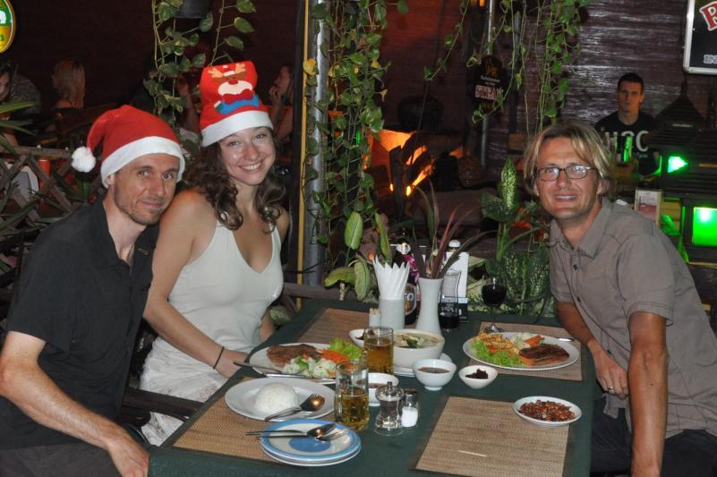 Weihnachtsessen mit Dana und Jimmy